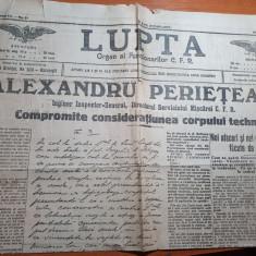 ziarul lupta 15 decembrie 1914-organ al functionarilor CFR