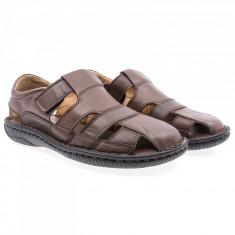 Sandale barbati Goretti din piele naturala Gor-B64-Brw