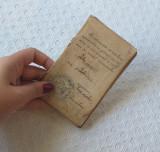Carnet vechi de călătorie CFR , carnet CFR de colecție 1913-1921