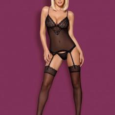 Set Corset & Chilotei Sexy, Negru, S/M