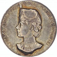 Medalie argint Regina Maria ca si patroana a Regimentului 4 Rosiori