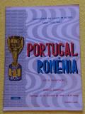 Program meci fotbal PORTUGALIA - ROMANIA (27.10.1968)