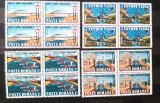 ROMANIA 1985 LP 1127 Canalul Dunare Marea Neagra Blocuri de 4 nestampilata, Nestampilat
