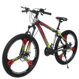 Cumpara ieftin Bicicleta MTB Tornado, 21 viteze, roti 26 inch, cadru otel 17'', schimbator Shimano, suspensii pe furca, genti pline, Phoenix