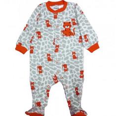 Salopeta / Pijama bebe cu leopard Z111, 1-2 ani, 1-3 luni, 12-18 luni, 3-6 luni, 6-9 luni, 9-12 luni, Alb