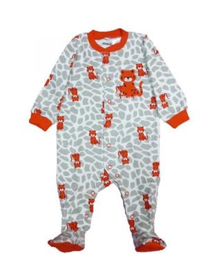 Salopeta / Pijama bebe cu leopard Z111 foto