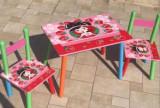 Masuta cu scaunele lemn Capsunica