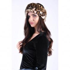 Canadiana Pufoasa Pieces Fur Leopard Print