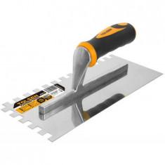 Mistrie pentru tencuit maner din plastic 280x120 mm cu dinti, GRIPro (Industrial) 41017