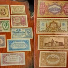 B125-Bancnote Ungaria vechi inainte de 1945.