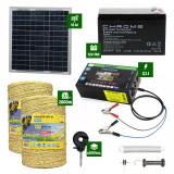 Pachet gard electric cu Panou solar 3,1J putere cu 2000m Fir 160Kg