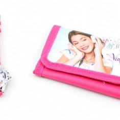 Set ceas pentru copii cu Violetta si portofel cadou MK18V