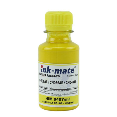 Cerneala compatibila pigment Yellow pentru HP940 HP951 HP933 foto