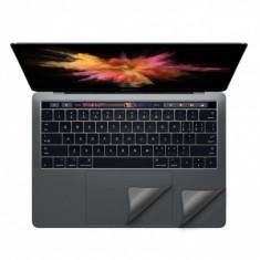 Folie protectie palm rest si trackpad aspect aluminiu pentru MacBook Pro 13.3 2016 Touch Bar, space grey