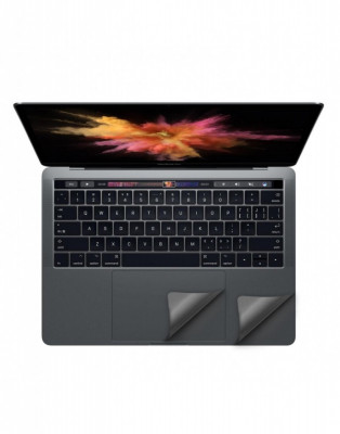 Folie protectie palm rest si trackpad aspect aluminiu pentru MacBook Pro 13.3 2016 Touch Bar, space grey foto