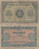 1944 ( 1 III ) , 10 francs ( P-25a.3 ) - Maroc