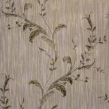 Cumpara ieftin Tapet clasic, model cu frunze, gri, auriu, verde, dormitor, living, Regalis, M7943