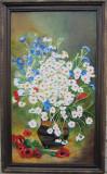 Tablou ghiveci cu flori albe smnat Cimpoesu