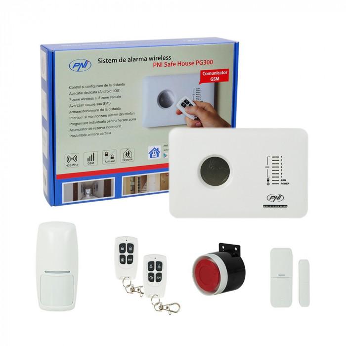 Aproape nou: Sistem de alarma wireless PNI SafeHouse PG300 comunicator GSM 2G
