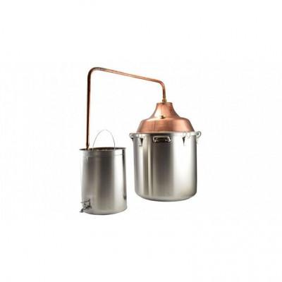 Cazan cupru-inox pentru fiert tuica 92l Handy KitchenServ foto