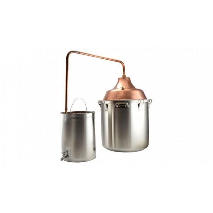 Cazan cupru-inox pentru fiert tuica 92l Handy KitchenServ