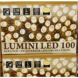 Instalatie pom cu 100 led-uri alb cald cu joc de lumini