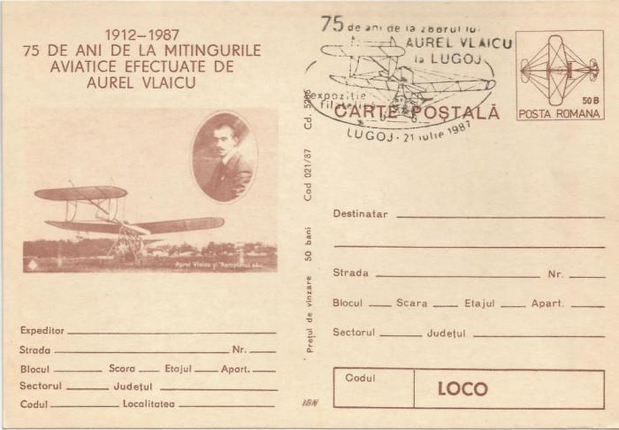 România, 75 de ani de la mitingurile aviatice efectuate de Aurel Vlaicu, Lugoj