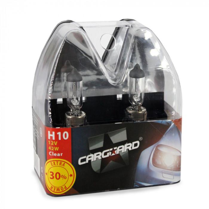 CARGUARD - Set de 2 becuri halogen H10 +30% intensitate