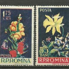 1956 - Flori, serie neuzata