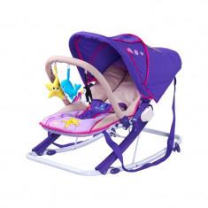 Scaun balansoar pentru bebelusi Caretero AQUA SBCA-MO, Mov