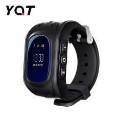 Ceas Smartwatch Pentru Copii YQT Q50 cu Functie Telefon, Localizare GPS, Pedometru, SOS - Negru, Cartela SIM Cadou