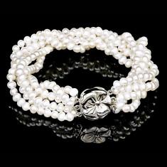Bratara cu Perle Naturale si Argint 925, Anemona
