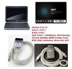 Sistem complet diagnoza BMW : laptop + SSD + Inpa + Enet + ISTA D & P foto