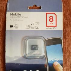 "Vand Card memorie microSDHC ""SanDisk"" 8 GB, Clasa 2 (SIGILAT)"