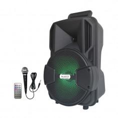Boxa portabila tip troler Lige A811-DT, microfon, telecomanda
