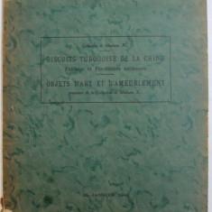 BISCUITS TURQUOISE DE LA CHINE - FAIENCES ET PORCELAINES ANCIENNS / OBJETS D 'ART ET D ' AMEUBLEMENT , DONT LA VENTE A HOTEL DROUOT , 1942