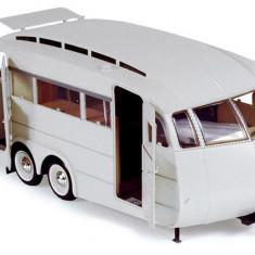 Macheta Auto Norev, Caravane Henon 1955 Alb 1:18