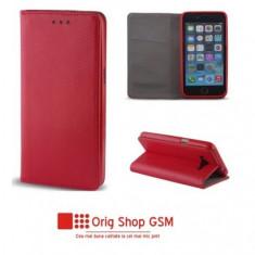 "Husa Flip Carte Smart Universal 4,7"" - 5,3"" inch Rosu"