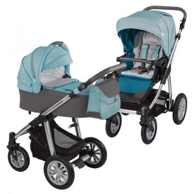 Baby Design Dotty 05 Turquoise 2017 - Carucior 2 in 1 foto