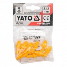 Set antifoane tip dop pentru urechi, Yato YT-7455, 5 perechi, 8-12mm, silicon