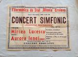 Afis vechi de filarmonica Craiova, afis vechi de colectie perioada comunista