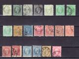 Romania Carol I 1872 / 1879 lot 20 valori stampilate
