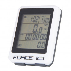 Ciclo-computer Force 10F cu fir alb