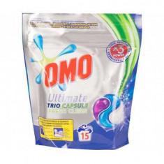 Detergent capsule Omo Ultimate Fresh Clean Trio Caps, 15 Spalari