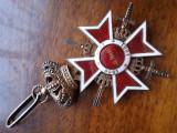 Ordinul Coroana Romaniei COMANDOR 1938 RARA Ag.