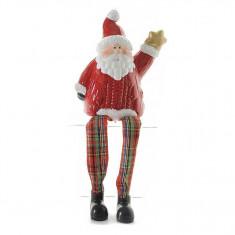 Figurina Santa cu picioare textil