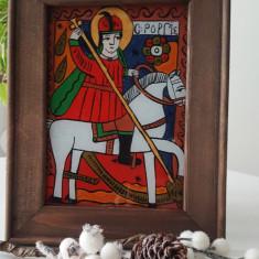 Sfantul Gheorghe-Icoana pictata pe sticla