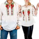 Cumpara ieftin Set Traditional Cuplu 110 Camasi traditionale cu broderie