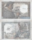 1943 (14 1), 10 francs (P-99b.3) - Franța