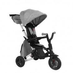 Tricicleta ultrapliabila cu roti cauciuc Qplay Nova Air Gri